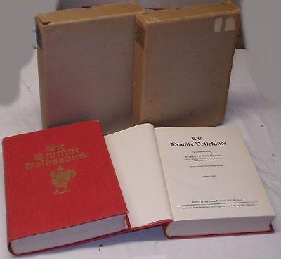 Die deutsche Volkskunde Band 1 und 2 von 1934