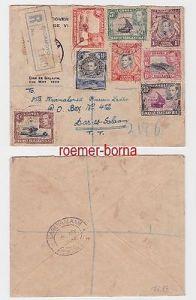 82548 Einschreiben Brief Britisch Ostafrika Bagamoyo Dar es Salam 1938