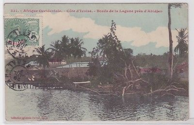 03468 Ak Côte d'Ivoire (Elfenbeinküste) Bords de la Lagune près d´Abidjan 1915