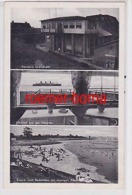 84619 Mehrbild Ak Brokdorf a.d. Elbe Strandhalle W. Stücker 1953