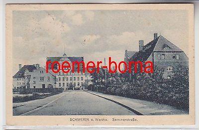 74312 Ak Schwerin an der Warthe Skwierzyna Seminarstrasse 1923