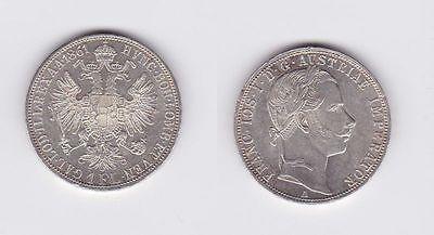 1 Gulden Silber Münze Österreich 1861 A (117249)