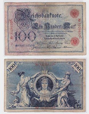 100 Mark Banknote Kaiserreich Deutsches Reich 17.04.1903 (117299)