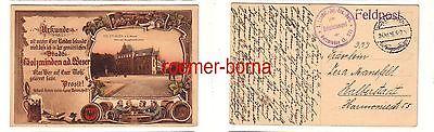 30307 Feldpost Ak Holzminden a.d. Weser Herzogl. Baugewerksschule 1916