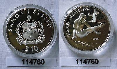 10 Dollar Silber Münze Samoa Olympiade 1996 Atlanta Turmspringer