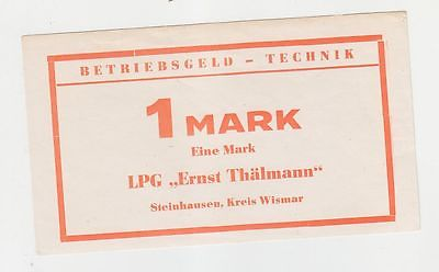 1 Mark Banknote DDR LPG Geld Steinhausen Kreis Weimar  (116459)