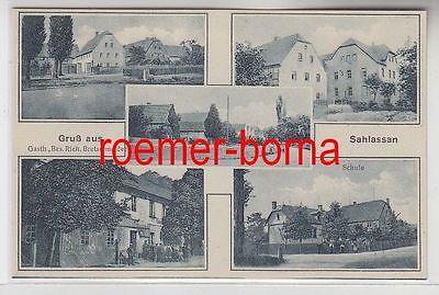 79486 Mehrbild Ak Gruß aus Sahlassan Gasthaus, Schule usw. um 1930