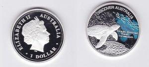 1 Dollar Silbermünze Australien Discover Australia Great Barrier Reef (116944)
