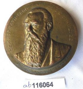 Seltene Bronze Medaille geheimer Hof Rath Prof.Dr. Schultze Jena 1897 (116064)