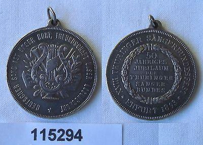 Seltene Silber Medaille XVIII. Thüringer Sängerbundesfest Erfurt 1893 (115294)