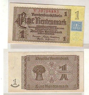 1 Mark Banknote DDR Deutsche Notenbank 1948 Kuponausgabe (114060)