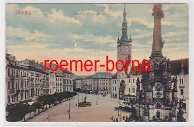 85426 Ak Olmütz Olomouc Oberring mit der Kunstuhr um 1920