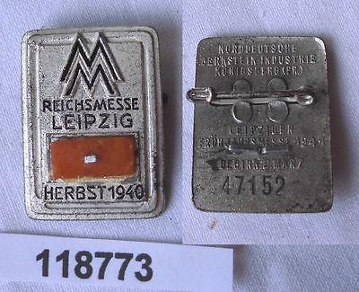 Seltenes Metall Abzeichen Leipziger Herbstmesse 1940 (118773)