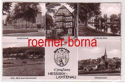 61004 Mehrbild Ak Gruß aus Hessisch-Lichtenau Rathaus, Stadtschule usw. 1950