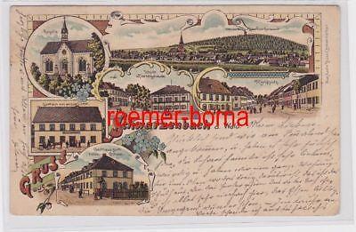 82080 Ak Lithographie Gruß aus Schwarzenbach Gasthaus usw. 1903