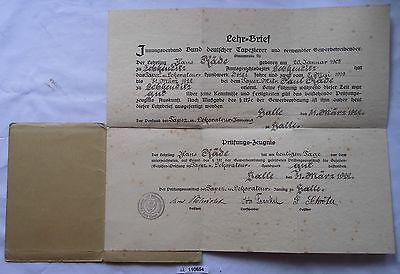 Alter Lehrbrief Bund Deutscher Tapezierer Halle Saale 1922 (110654)