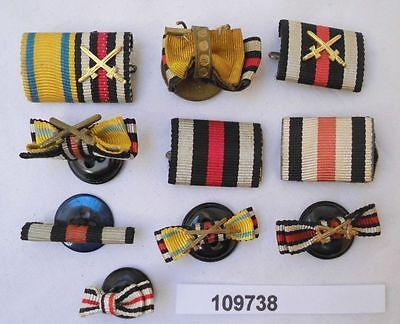 10 x Feldschnallen Interimsspangen zu Orden aus dem 1. Weltkrieg (109738)