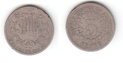 5 Cent Nickel Münze Usa 1866 114909 Nr 232602018993 Oldthing