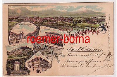 78528 Ak Lithografie Gruss aus Hildburghausen Technikum, Kaserne usw. 1898