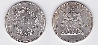 50 Franc Silber Münze Frankreich 1976 (118002)