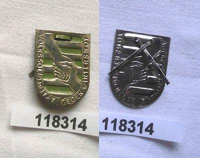 Altes Blech Abzeichen Sachsen