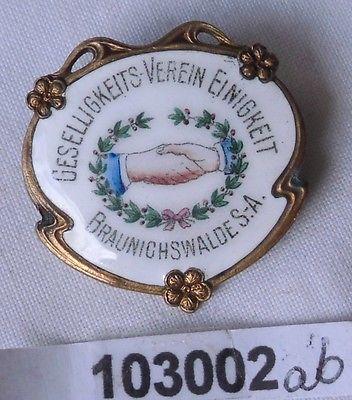 Rare Anstecknadel Braunichswalde S.-A. Geselligkeitsverein Einigkeit (103002)