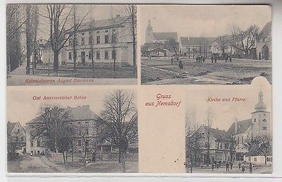 58345 Mehrbild Ak Gruss aus Nemsdorf Kolonialwarengeschäft usw. um 1910