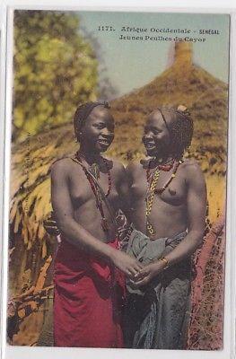 54610 Ak Senégal nackte Eingeborene um 1915