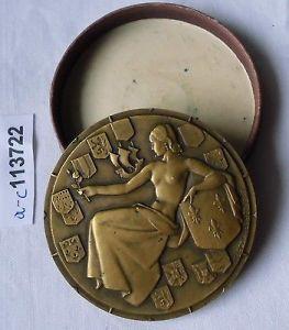 Bronze Medaille Frankreich Transatlantique Dampfer