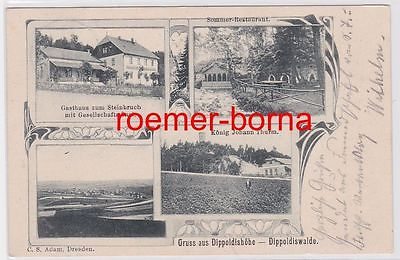 80445 Mehrbild Ak Gruß aus Dippoldishöhe Dippoldiswalde Gasthaus usw. 1905