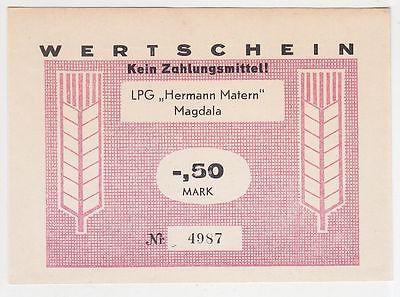 50 Pfennig Banknote DDR LPG Geld Magdala