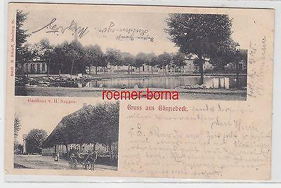 44393 Mehrbild Ak Gruß aus Gönnebeck Gasthaus usw. 1904