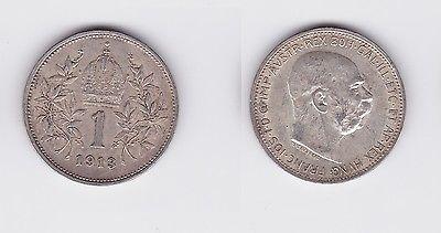 1 Krone Silber Münze Österreich 1913 (118619)