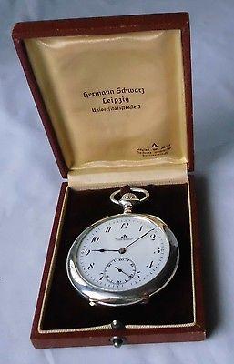 Rare Herren Taschenuhr Silber Deutsche Präzisionsuhr Original Glashütte (111263)