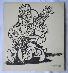 Mosaik Abrafaxe Ausmalbogen Ausmalbild mit Abrax, Brabax und Vidusaka 1987