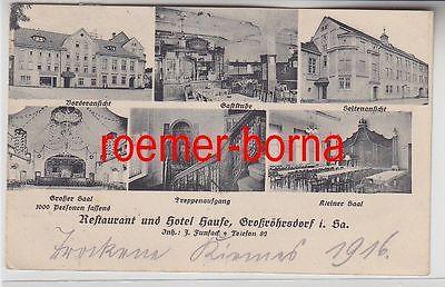 76150 Feldpost Ak Großröhrsdorf Restaurant und Hotel Haufe 1916