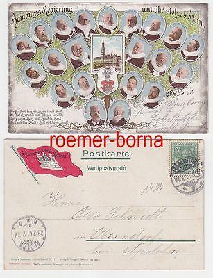 74739 Ak Hamburgs Regierung und ihr stolzes Heim 1901