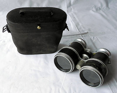 Seltenes Fernglas mit Tasche Gebrüder Rauh Gräfrath um 1920 (114159)