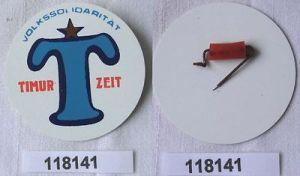Seltene DDR Plaste Abzeichen Timurzeit der Volkssolidarität  (118141)
