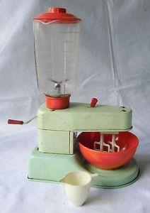 Alte Spielzeug GAMA Puppenküchen Maschine 1950/60er funktioniert (100996)