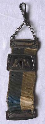 Studentika Bierzipfel 800er Silber mit blau weißem Band 1934 (114544)