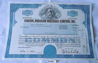 500 Dollar Aktie USA General American Investors Company Inc. Delaware 13.4.1977