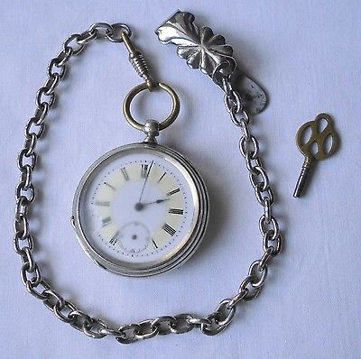 Hübsche Herren Taschenuhr mit Schlüsselauzug Hagenest um 1900 (112415)