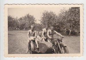67656 Foto Militär BMW Motorrad Seitenwagen Gespann im 2.Weltkrieg