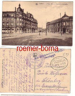 80144 Ak Calais Grand Hotel Feldpost 1916 Militär-Eisenbahndirektion