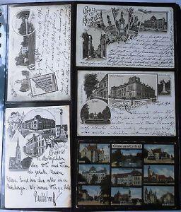 Alte Sammlung mit 390 seltenen Ansichtskarten Krefeld und Uerdingen (116777)