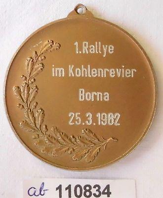 Seltene DDR Medaille 1.Rallye im Kohlenrevier Borna 25.3.1962 (110834)