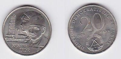 DDR Gedenk Münze 20 Mark 30.Jahrestag der DDR 1979 (118825)