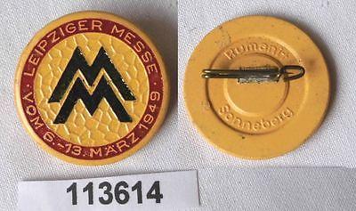 Abzeichen Leipziger Frühjahrsmesse 1949 Einkäuferabzeichen (113614)