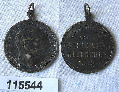 Alte Medaille Erinnerung an die Kaisertag in Altenburg 1890 (115544)